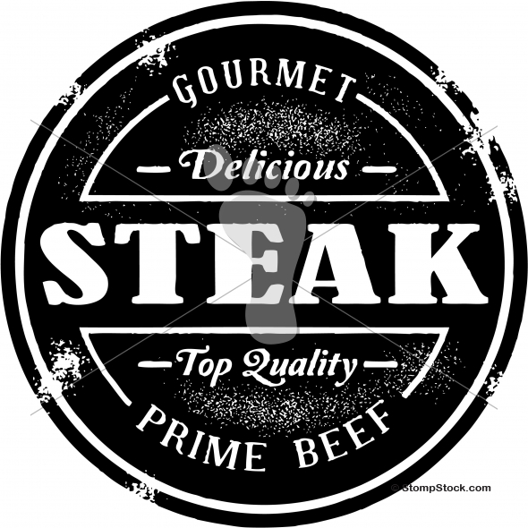 Quality Steak Beef Stamp Design