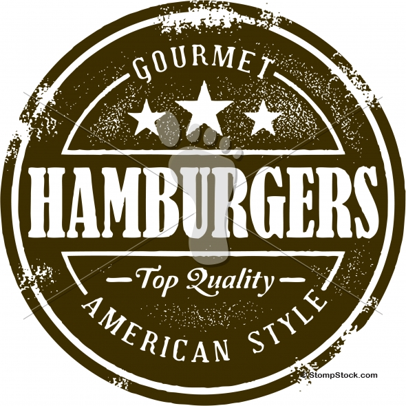 Gourmet Hamburger Cheeseburger Menu Design