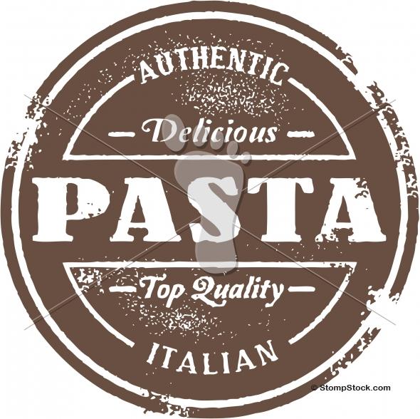 Vintage Style Pasta Menu Graphic