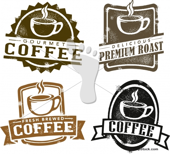 Vintage Style Coffee Vector Designs