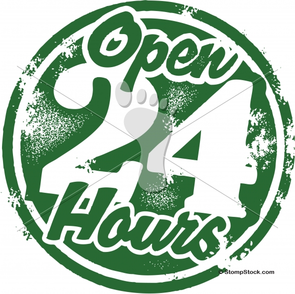 Store Open 24 Hours Graphic