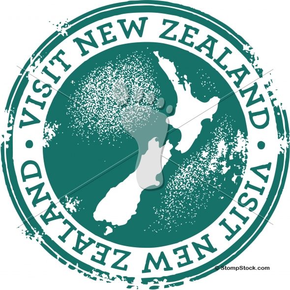 Visit New Zealand Tourism Stamp