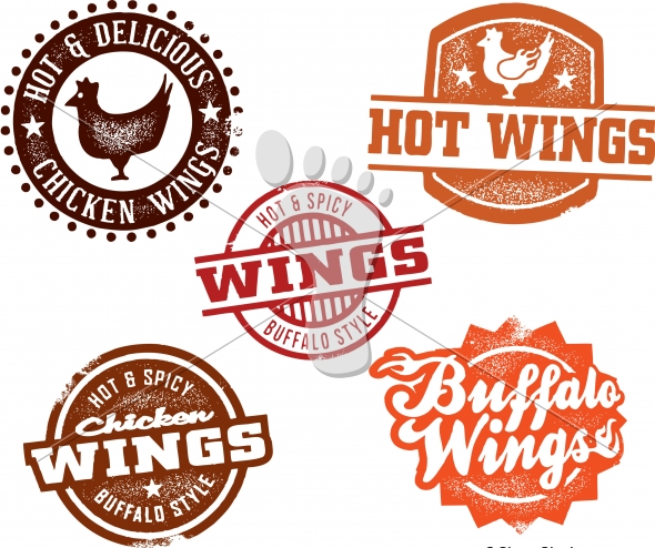 Hot Buffalo Chicken Wings Menu Design