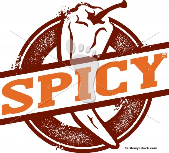 Hot Spicy Chili Pepper Menu Graphic