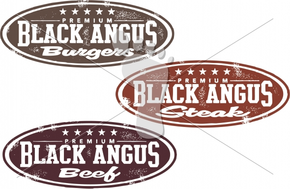 Black Angus Beef, Burger, Steak Designs