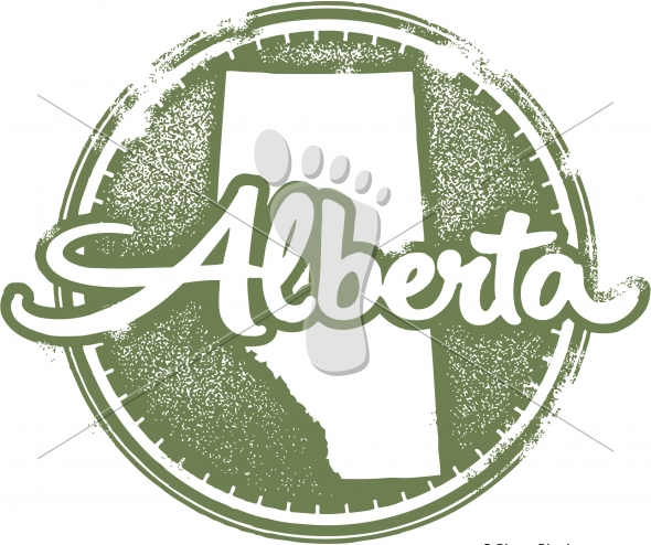 Vintage Style Alberta Canada Vector Stamp