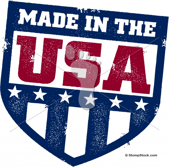 Vintage Made in the USA Shield Logo