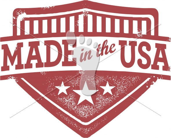 Vintage Made in the USA Crest Label