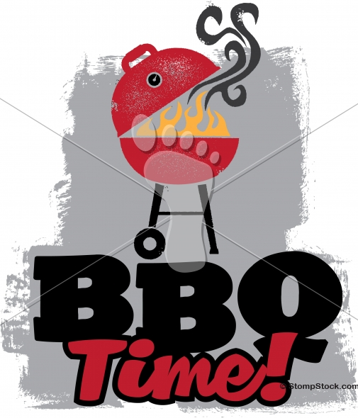 Bbq Time Grilling Vector Design Stompstock Royalty