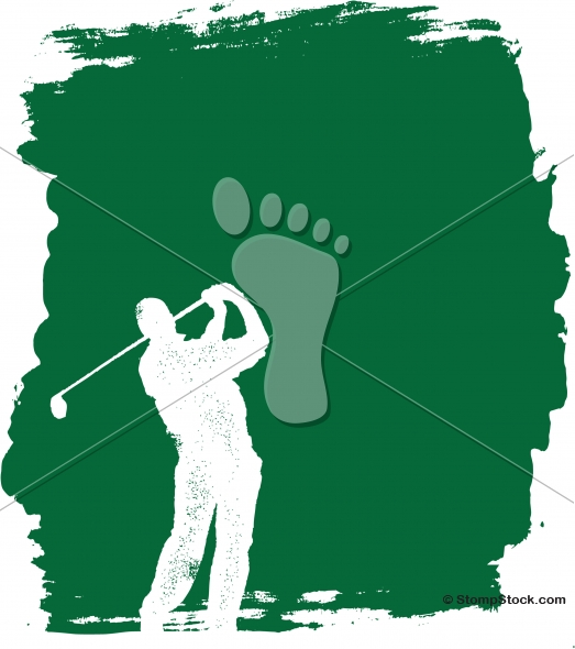Vector Golfing Tournament Course Poster Background
