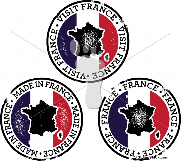 Distressed Vector France Stamps