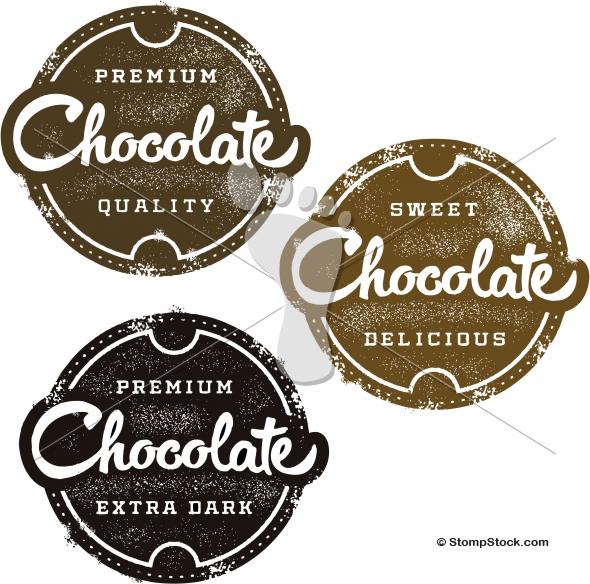 Vintage Premium Chocolate Distressed Vector Design