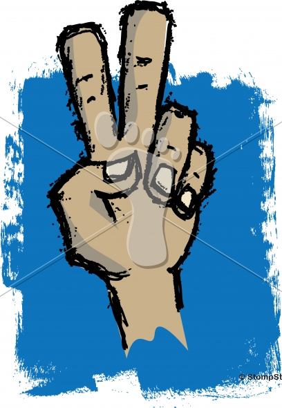 Peace Sign Vector Hand Sketch