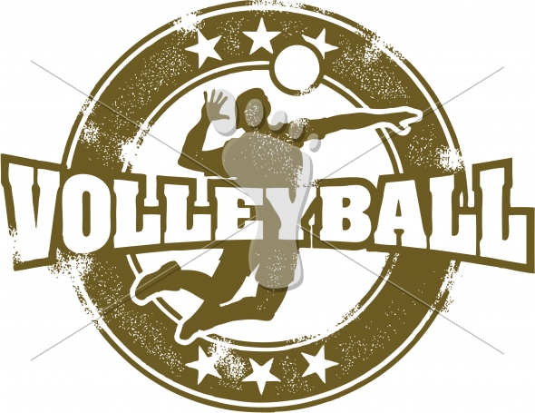 Volleyball Sport Stamp