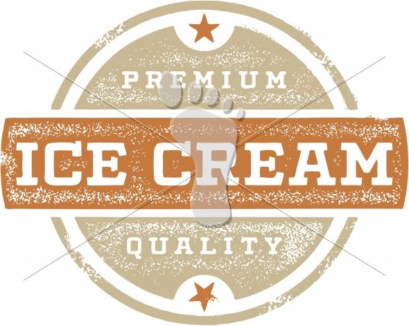 Vintage Style Ice Cream Vector Clip Art