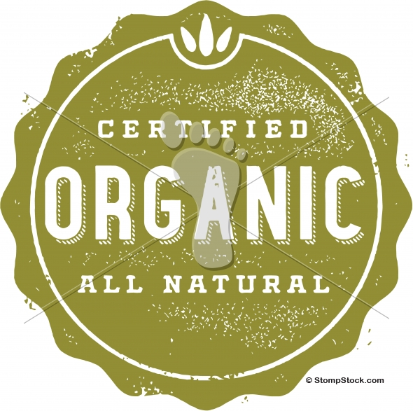Certified Organic Natural Vector Icon Design