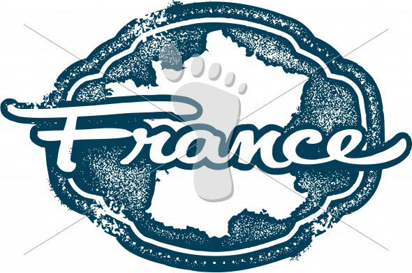 Vintage France European Country Stamp