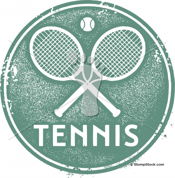 Vintage Style Tennis Sport Clip-Art