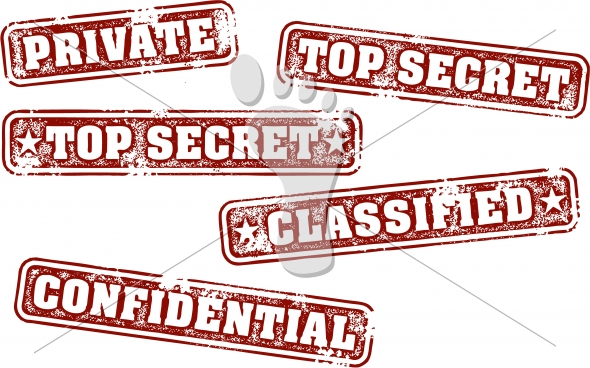 Top Secret Classified Private Rubber Stamps