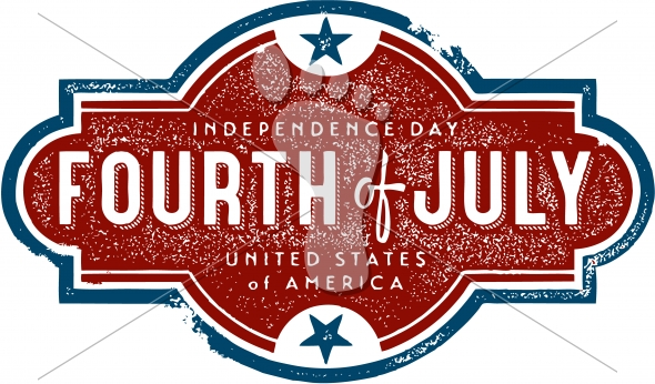 Vintage Independence Day- July 4th Sign