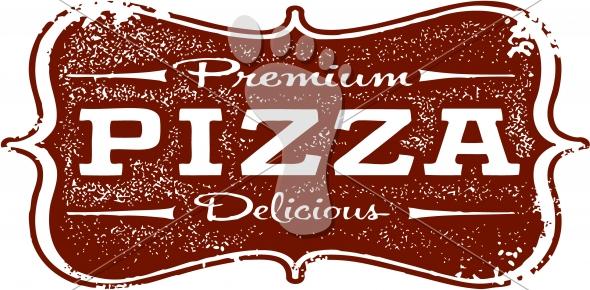 Vintage Style Pizza Clip Art