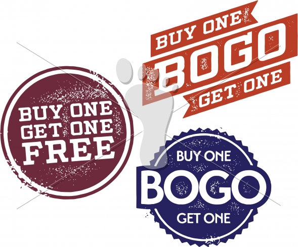 Buy One Get One Free-BOGO Retail Graphics