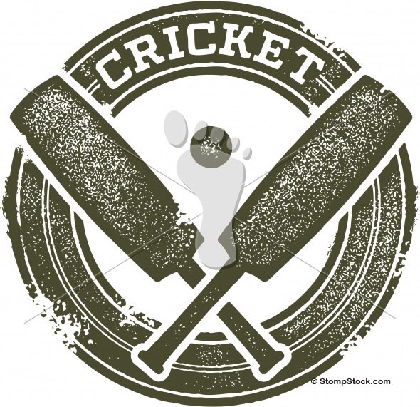 Vintage Cricket Sports Stamp