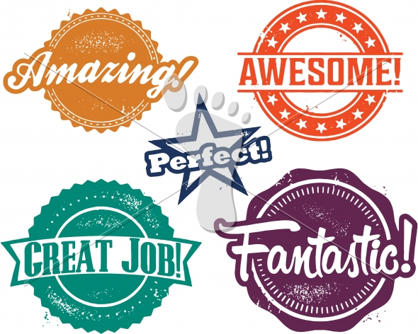 Amazing Awesome Fantastic Performance Recognition Stamps