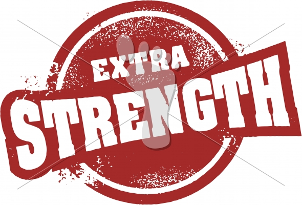 Extra Strength Product Rubber Stamp