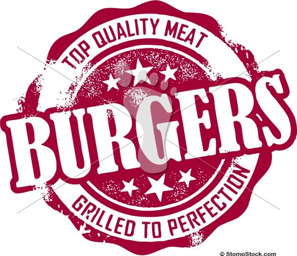Vintage Burger Restaurant Menu Clip Art