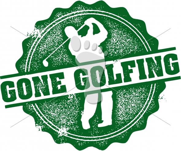 Gone Golfing Vintage Sign