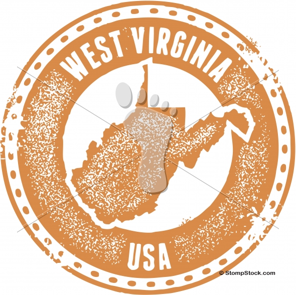 Vintage West Virginia USA State Stamp/Seal