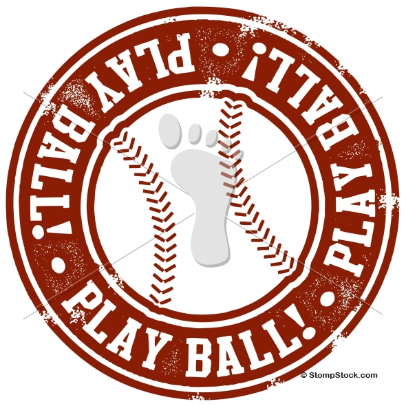 Play Ball! Baseball or Softball Graphic