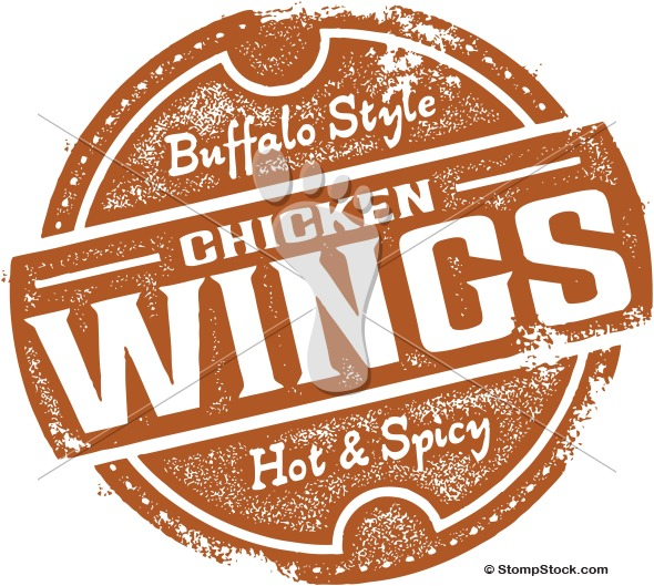 Buffalo Chicken Wings Menu Design Stamp