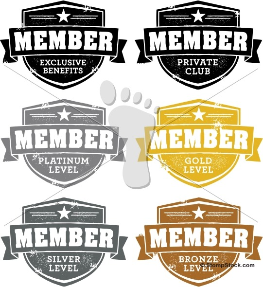Club Membership Badges – Vector Stamps