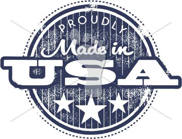 Proudly Made in the USA Brand Label Stamp