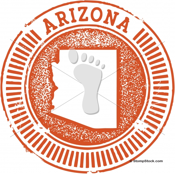 Vintage Arizona USA State Stamp – Seal