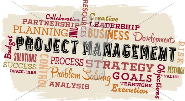 Project Management VEctor Word Cloud Collage