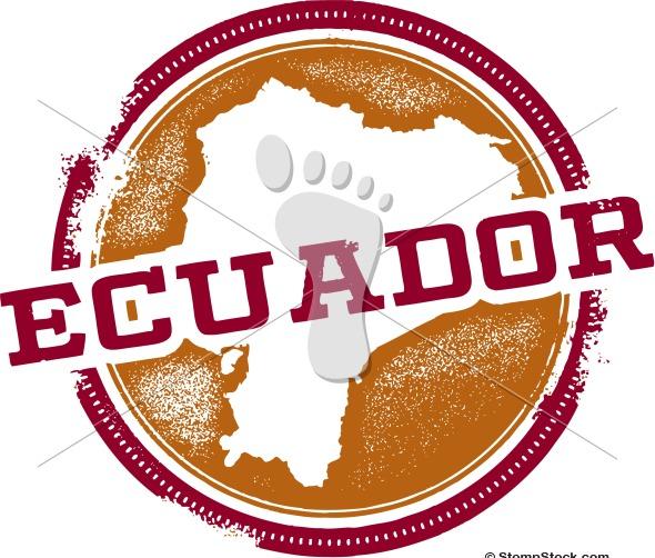 Vintage Ecuador South America Country Vector Art
