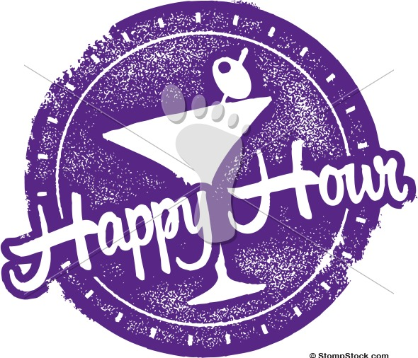 Happy Hour Cocktail Special Vector Menu Design