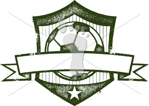 Vintage Soccer Ball Crest Clip Art