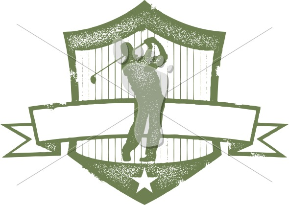 Vintage Golf Tournament Clip Art Graphic