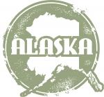 Vector Alaska State Stamp