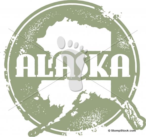 Vintage Alaska USA State Stamp/Seal