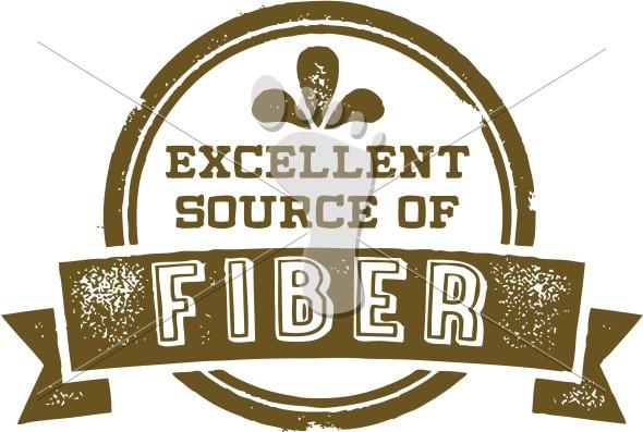 Excellent Source of Fiber Nutrition Label