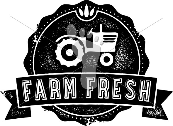 Farm Fresh Vector Food Label