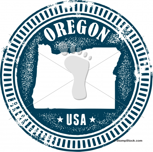 Vintage Oregon USA State Stamp – Seal