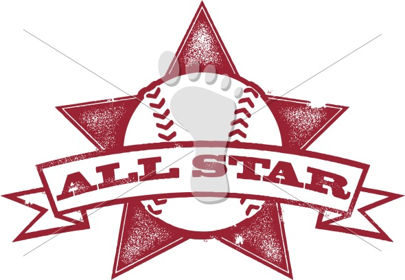 Baseball All Star Graphic