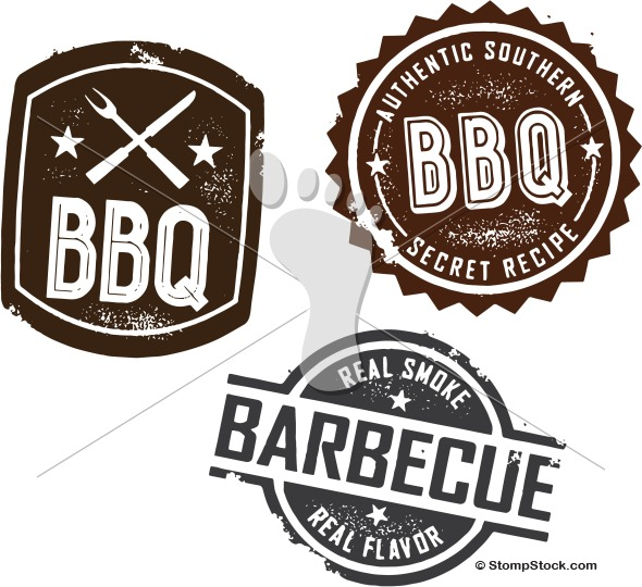 Vintage BBQ Barbecue Menu Design Elements