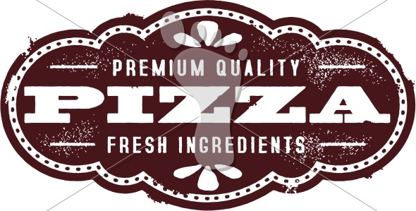Vintage Pizza Menu Design Element